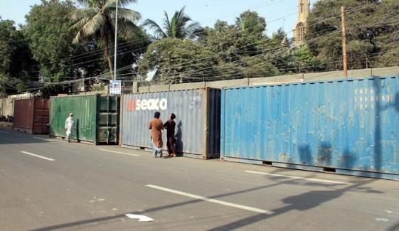 محرم الحرام: کراچی میں سڑکیں کنٹینر لگا کر بند
