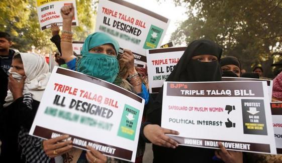 ایک ساتھ 3 طلاقیں دینے والا بھارتی جیل جائیگا