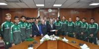 پاکستان فٹ بال فیڈریشن کا ڈیم کی تعمیر کے لیے 21لاکھ کا عطیہ