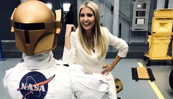 ایونکا ٹرمپ کی ناسا کی سیر، خلا بازوں سے خوش گپیاں
