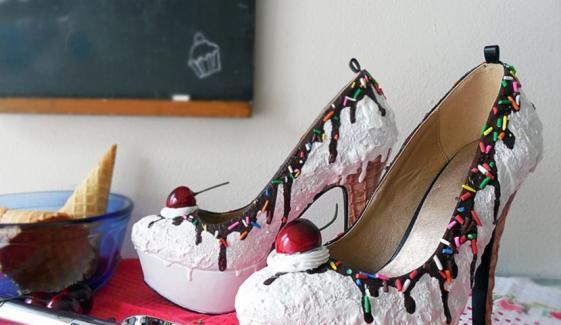 آئس کریم جوتے وہ بھی اتنے مزیدار
