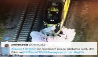 فلوریڈا میں ٹرین اور کار کے درمیان خطرناک تصادم
