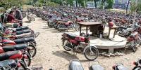 کراچی : پاک کالونی تھانے سے 100 موٹر سائیکلیں چوری