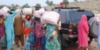تھر کے قحط متاثرین میں امدادی گندم کی تقسیم شروع