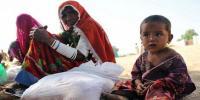 تھر میں گندم کی تقسیم کا دوسرا دن، متاثرینِ قحط کا احتجاج