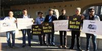 پاکستان پریس کلب بیلجیئم کے ارکان کی جانب سے احتجاجی مظاہرہ