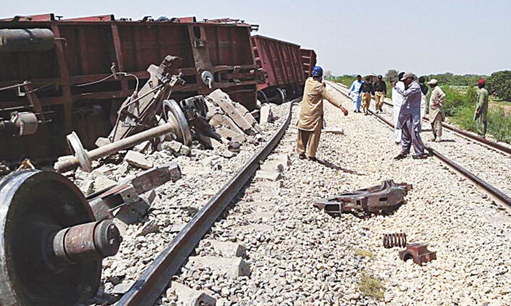 رحیم یار خان: مال گاڑی پٹری سے اتر گئی