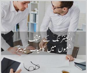 انجینئرنگ کے مختلف شعبوں میں کامیاب کیریئر