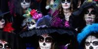 Mexico Celebrated Party Of La Catrina
