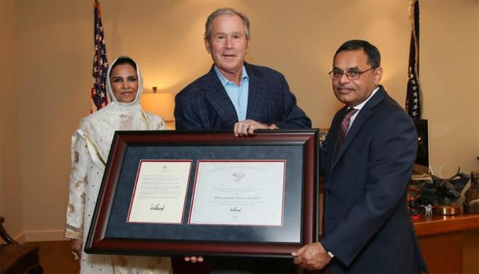 پاکستانی نژادکمیونٹی رہنماسعید شیخ کو صدر ٹرمپ کی جانب سے ایوارڈ