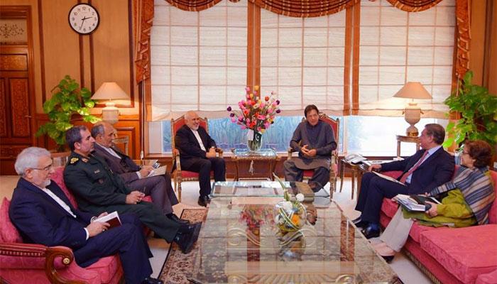 وزیراعظم سے ایرانی وزیر خارجہ کی ملاقات، دو طرفہ تعاون بڑھانے کے امور پر اتفاق