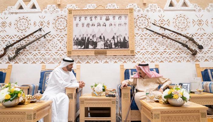 سعودی فرماں روا شاہ سلمان سے ابوظہبی کے ولی عہد کی ملاقات
