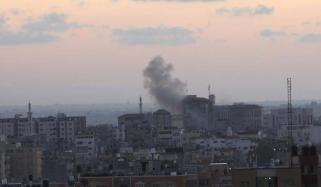 Israel Bombs Palestinian Tv Station In Gaza