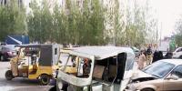 Accident Of Rickshaw And Vehicle In Korangi Karachi 3 Injured