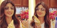 Shilpa Shetty Enjoyed A 24k Gold Plated Ice Cream In Hong Kong