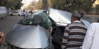 Accidents In Karachi Hassan Square And Chundrigar Road 2 Injured