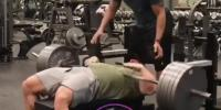 Weight Falls On Guy Doing Bench Press