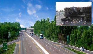 Accident Of School Bus On Motorway Near Kala Shah Kaku