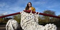 Student Wants To Sell Worlds Biggest Knitting Needles