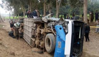 10 Students Injured As Speedy Bus Overturn In Sheikhupora