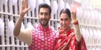 Ranveer Singh And Deepika Padukone Arrivedd Mumbai