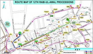 Karachi 12 Rabiul Awwal Traffic Plan Released