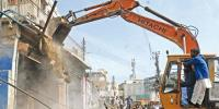 Jamia Cloth Market Anti Encroachment Operation