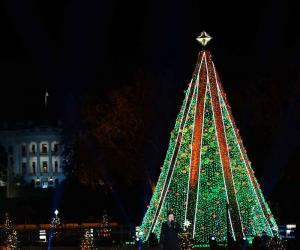 امریکا میں نیشنل کرسمس ٹری روشن