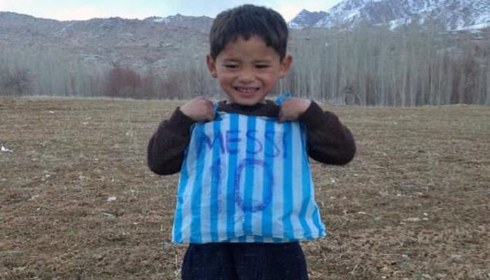 افغان بچہ میسی کی دی ہوئی جرسی سے محروم