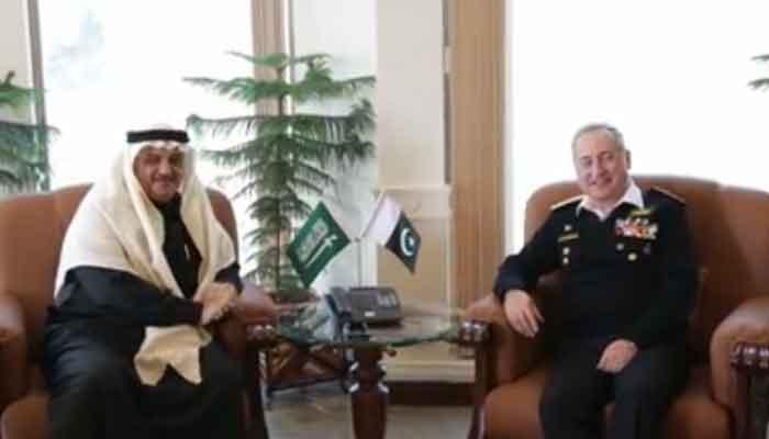 سعودی سفیر کی پاک بحریہ کے سربراہ سے ملاقات