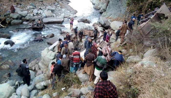 مقبوضہ کشمیر، بس کھائی میں جاگری، 11 افراد ہلاک