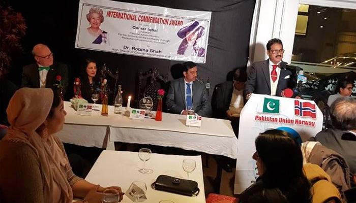 نارویجن پاکستانی کیلئے برطانیہ کا عالمی ایوارڈ