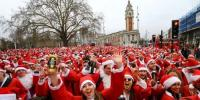 Thousands Of Santas Flock To London For Santacon