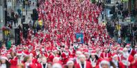 Hundreds Of Santas Dash Through German Streets
