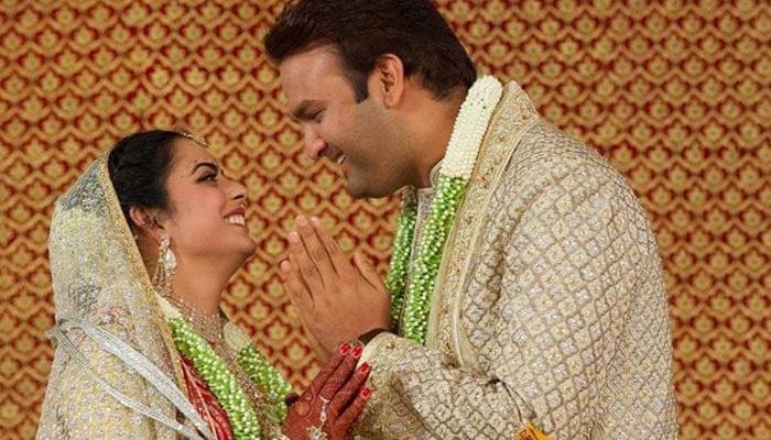 ایشا امبانی کی شادی کی پہلی تصاویر جاری