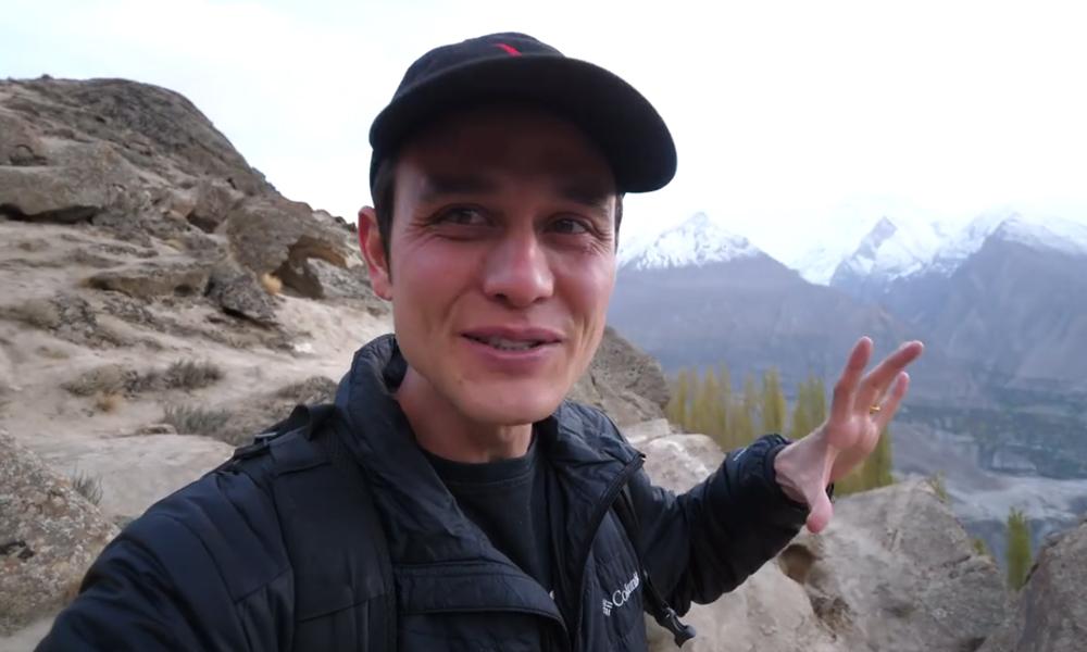 امریکی سیاح کی وادی ہنزہ میں سیر کرتے ویڈیو وائرل