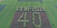Giant Chinese Map Formed By 2400 Students