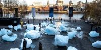 Blocks Of Melting Ice Are Placed Outside Londons Tate Modern