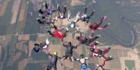 Hundreds Of Skydivers Are Incredible Formation In The Sky