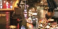 Annual Lighted Boat Parade Held In Florida