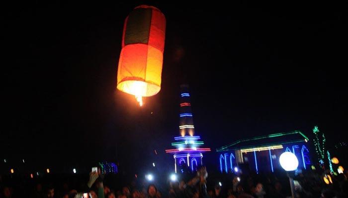 بلتستان میں سردیوں کا تہوار 'مے پھنگ' منایا گیا