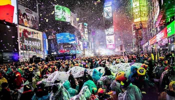 نیو یارک ، ٹائمز سکوائر پر سال نو کا استقبال