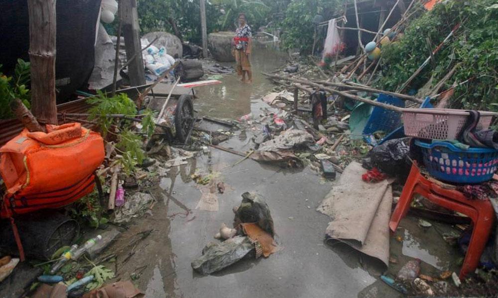 'پابک' تھائی لینڈ میں تباہی کے آثار چھوڑ گیا