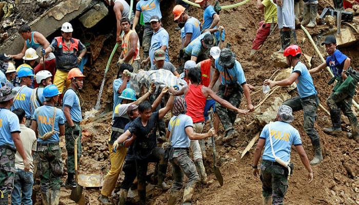 فلپائن میں طوفانی بارش اور لینڈ سلائیڈنگ،126 افراد ہلاک