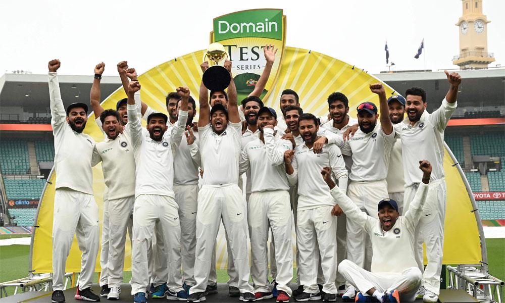 بھارت نے آسٹریلیا میں پہلی ٹیسٹ سیریز جیت لی