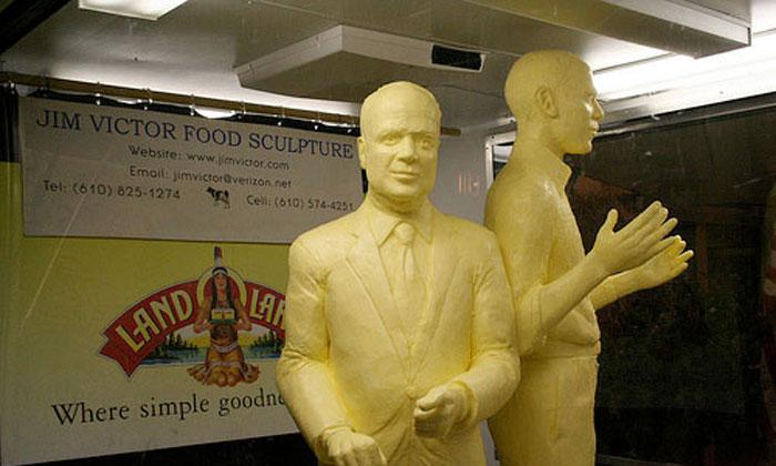 امریکا:مکھن سے بنا مجسمہ نمائش کیلئے پیش