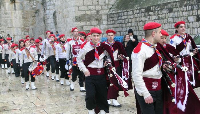 بیت اللحم میں سالانہ آرتھو ڈوکس پریڈکاانعقاد