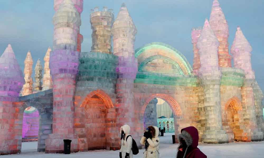 چین میں ہوئے برف کے میلے کی دلکش جھلک