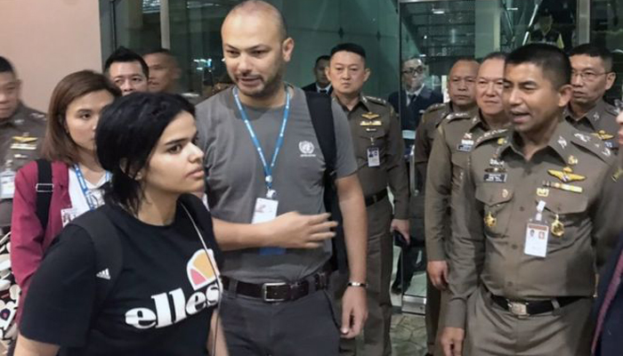 اقوام متحدہ  کی  سعودی لڑکی کو سیاسی پناہ دینے کی درخواست
