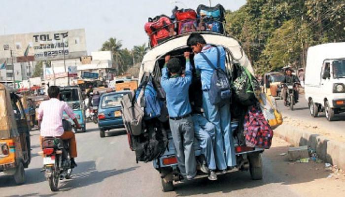 کراچی، اسکول وینز کیخلاف کریک ڈاؤن، ڈرائیورز کی ہڑتال